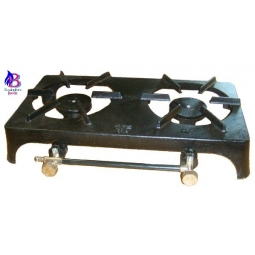 Double Cast Iron Ring Burners in Stand
